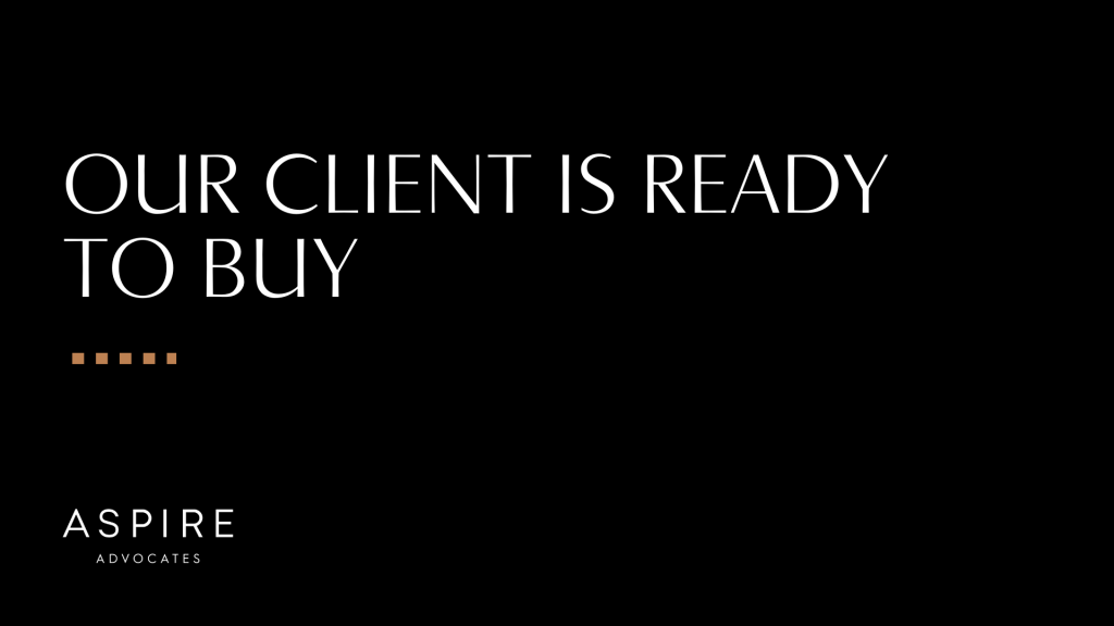 Do you have a property for our client?